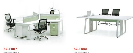 SZ-F007 and SZ-F008 Workstation and conference table