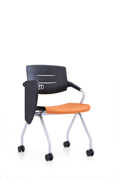 Modern Training Chair With Writing Pad P-L004A2 (Red)/P-L004B2(Green)/P-L004C2(Orange)/P-L004D2(Grey)