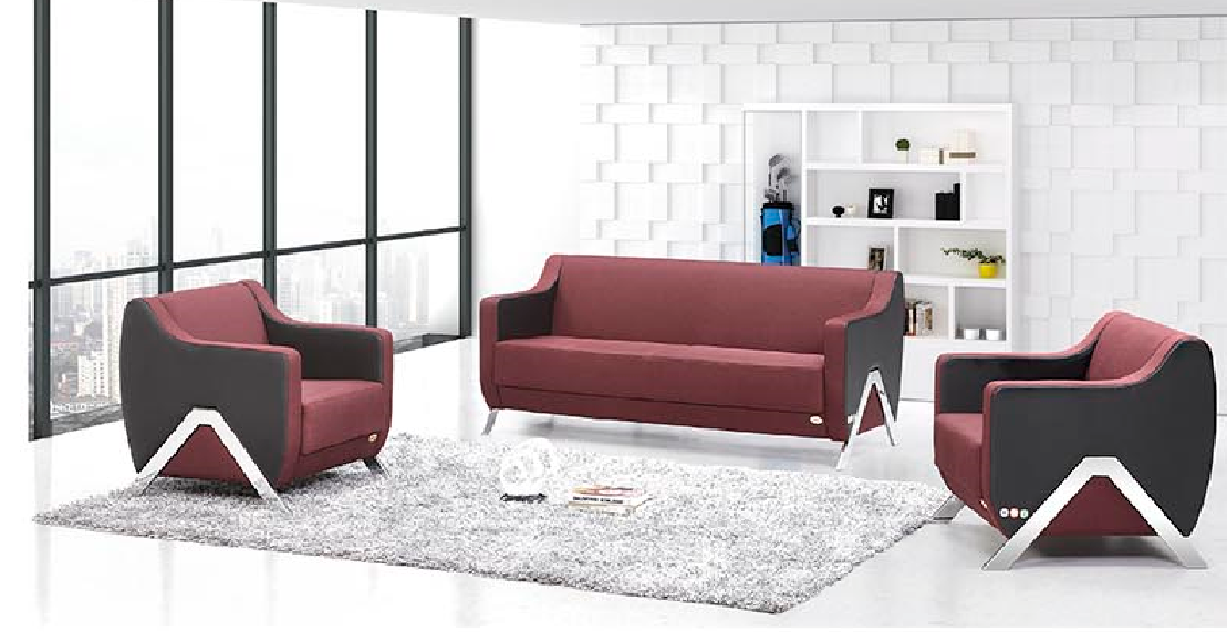 2017 Newest office sofa furniture SF615 1+1+3 set