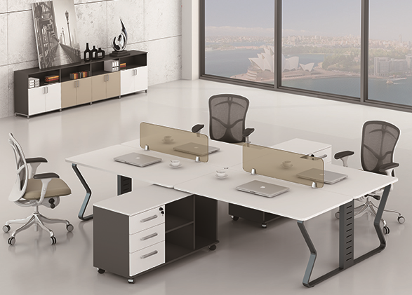 Latest New design office 4 person workstation 89-WG2814