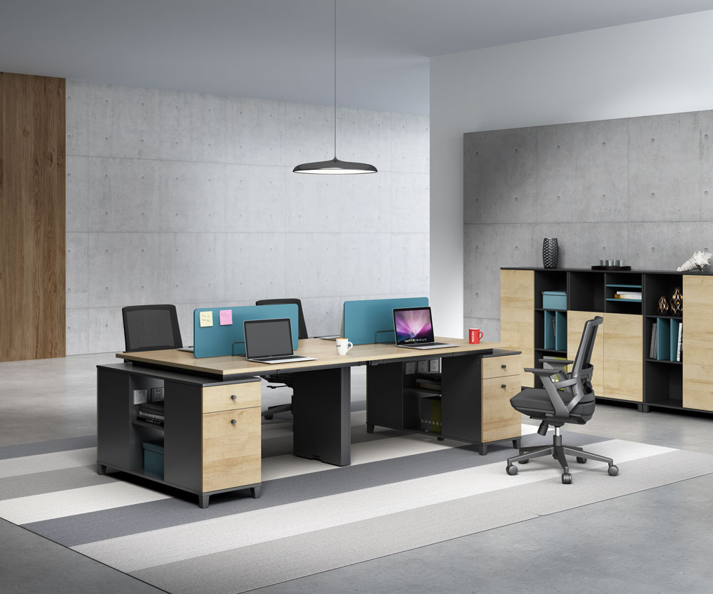 Modern style 4-person workstation   T-WB2812/ T-WB2412
