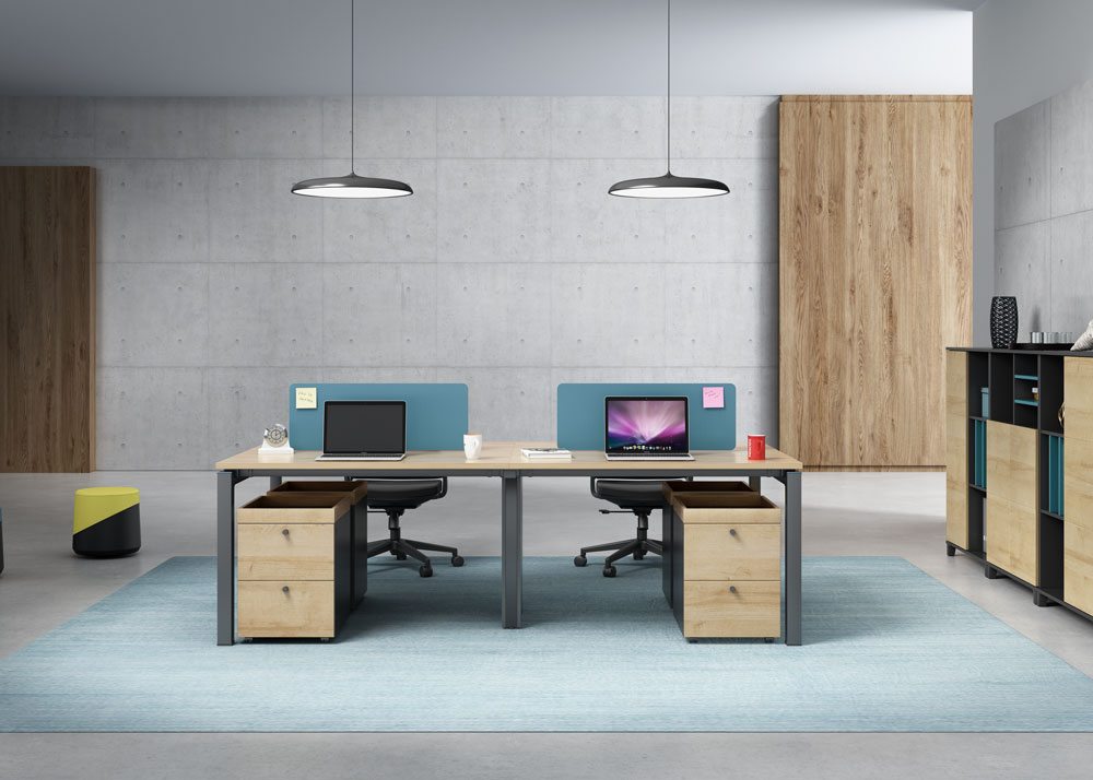 Modern style 4-person workstation  T-WC2412