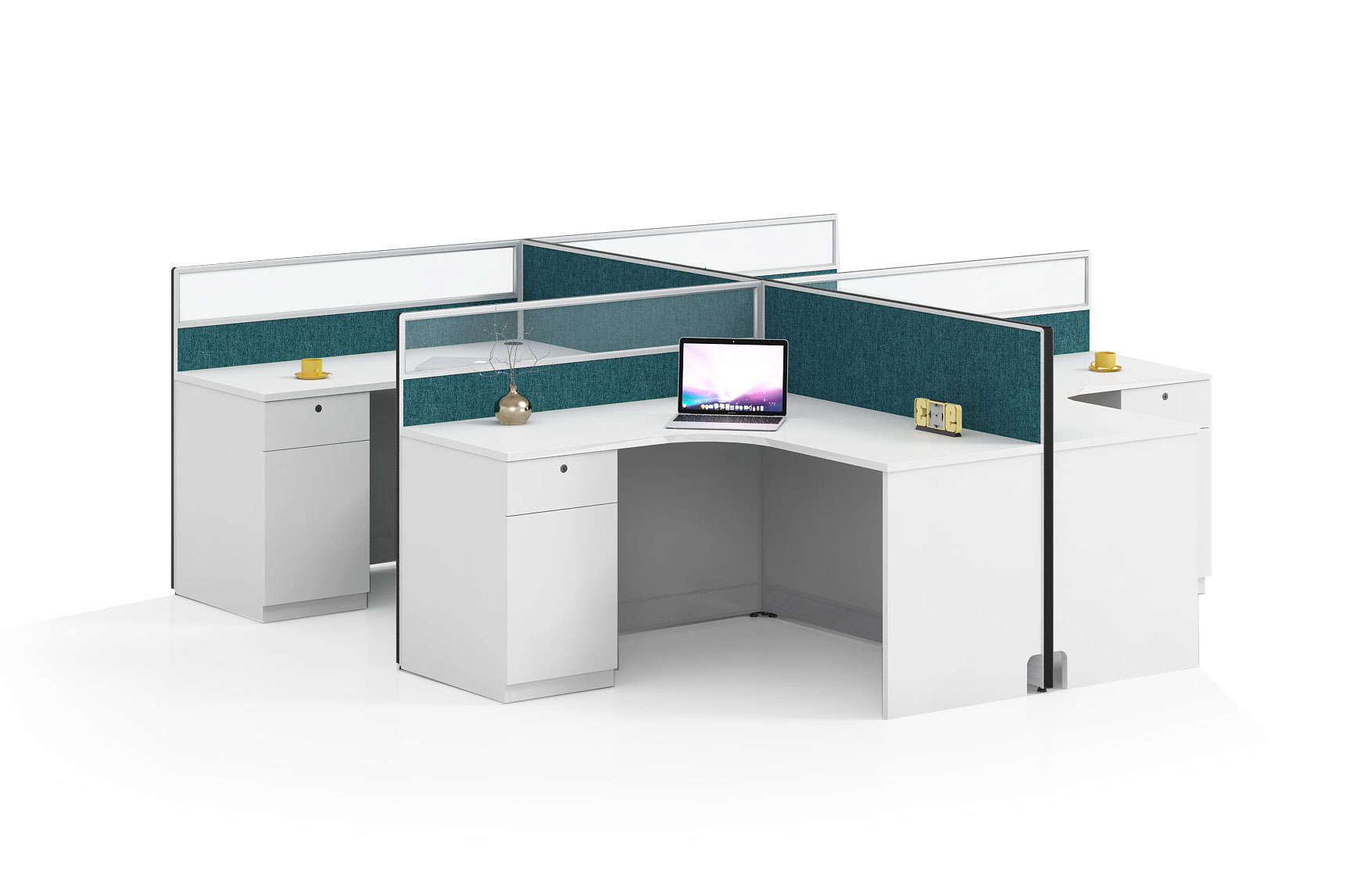 Modern style 4-person workstation Partition  O-WA2828