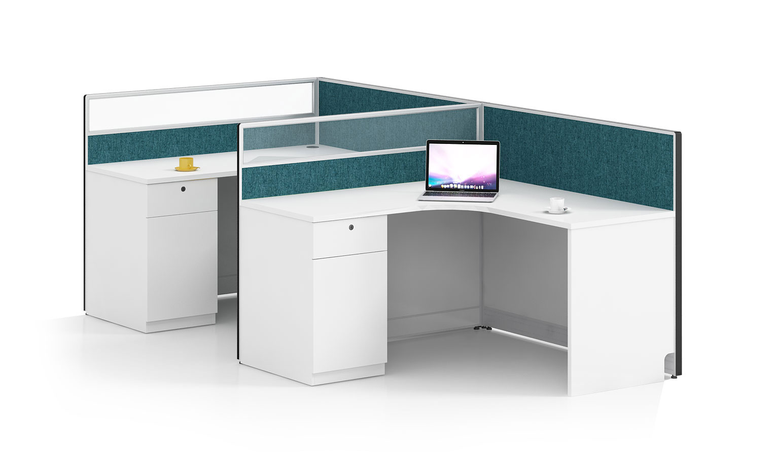 Modern style 2-person workstation Partition  O-WB2814