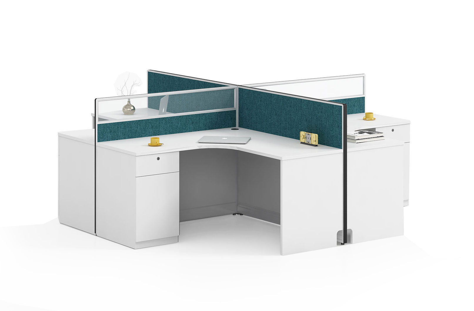 Modern style 4-person workstation Partition O-WB2828