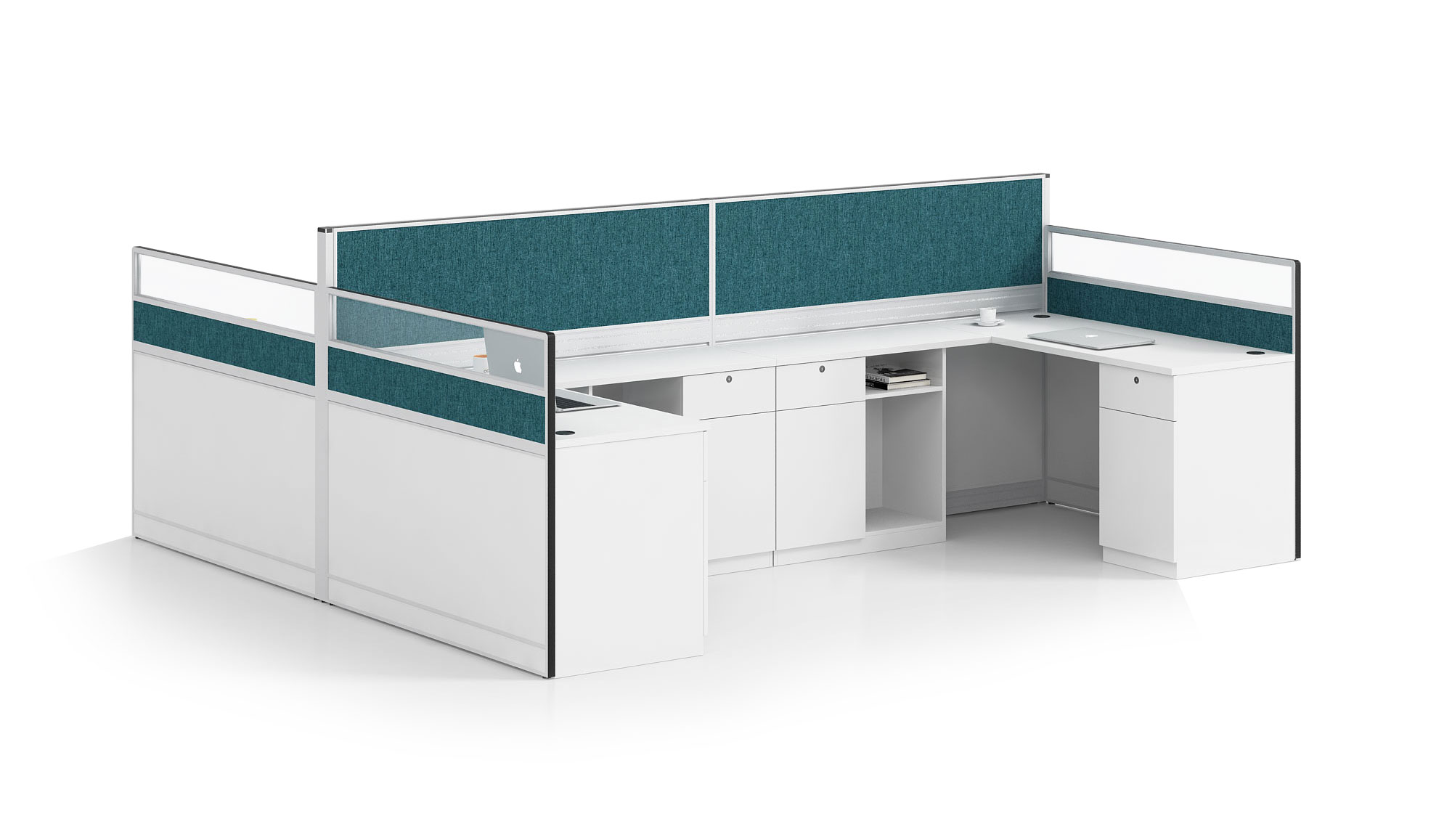 Modern style 4-person workstation Partition  O-WD3228