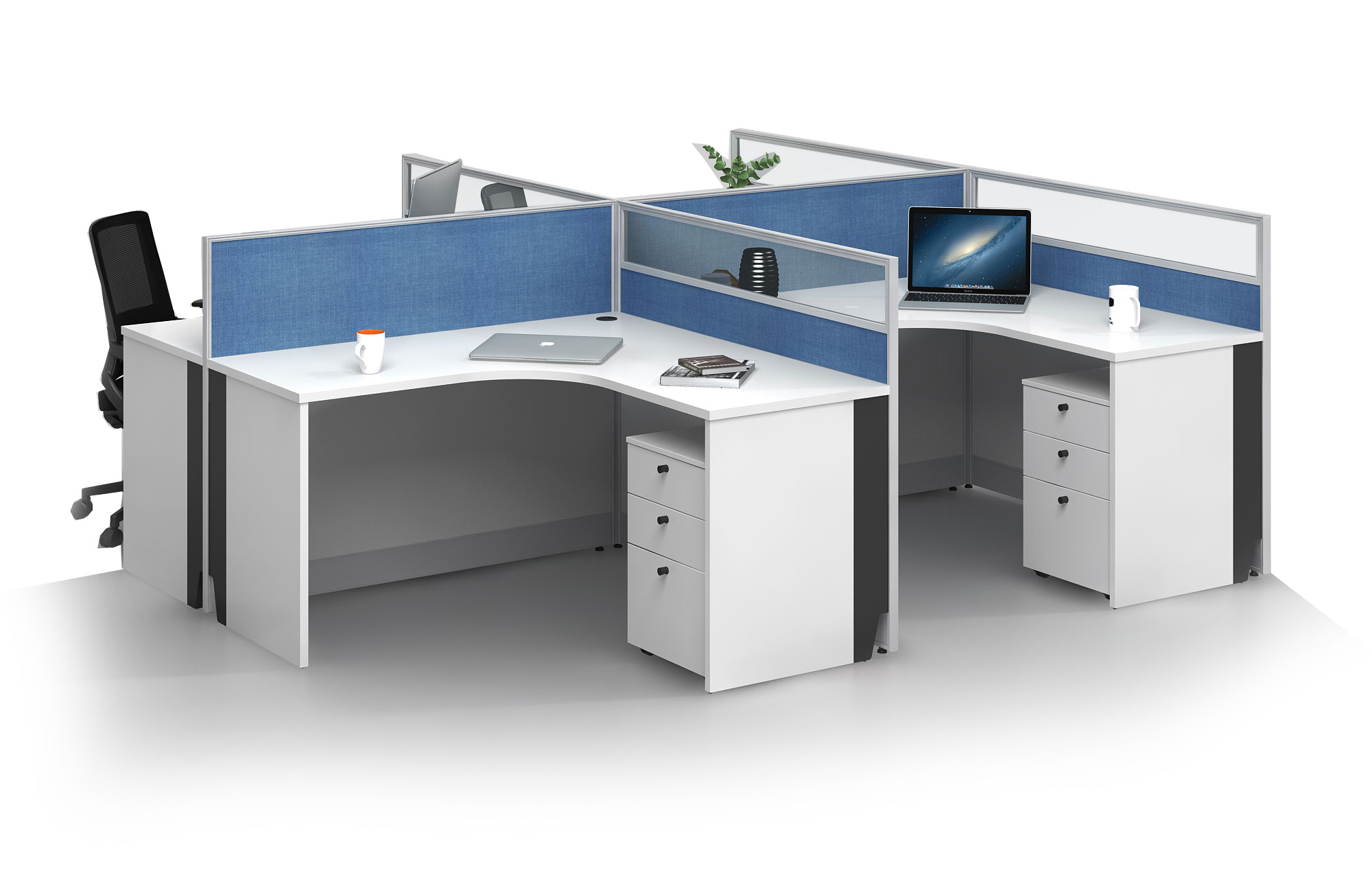 Modern style 4-person workstation  Partition V-WA2828A
