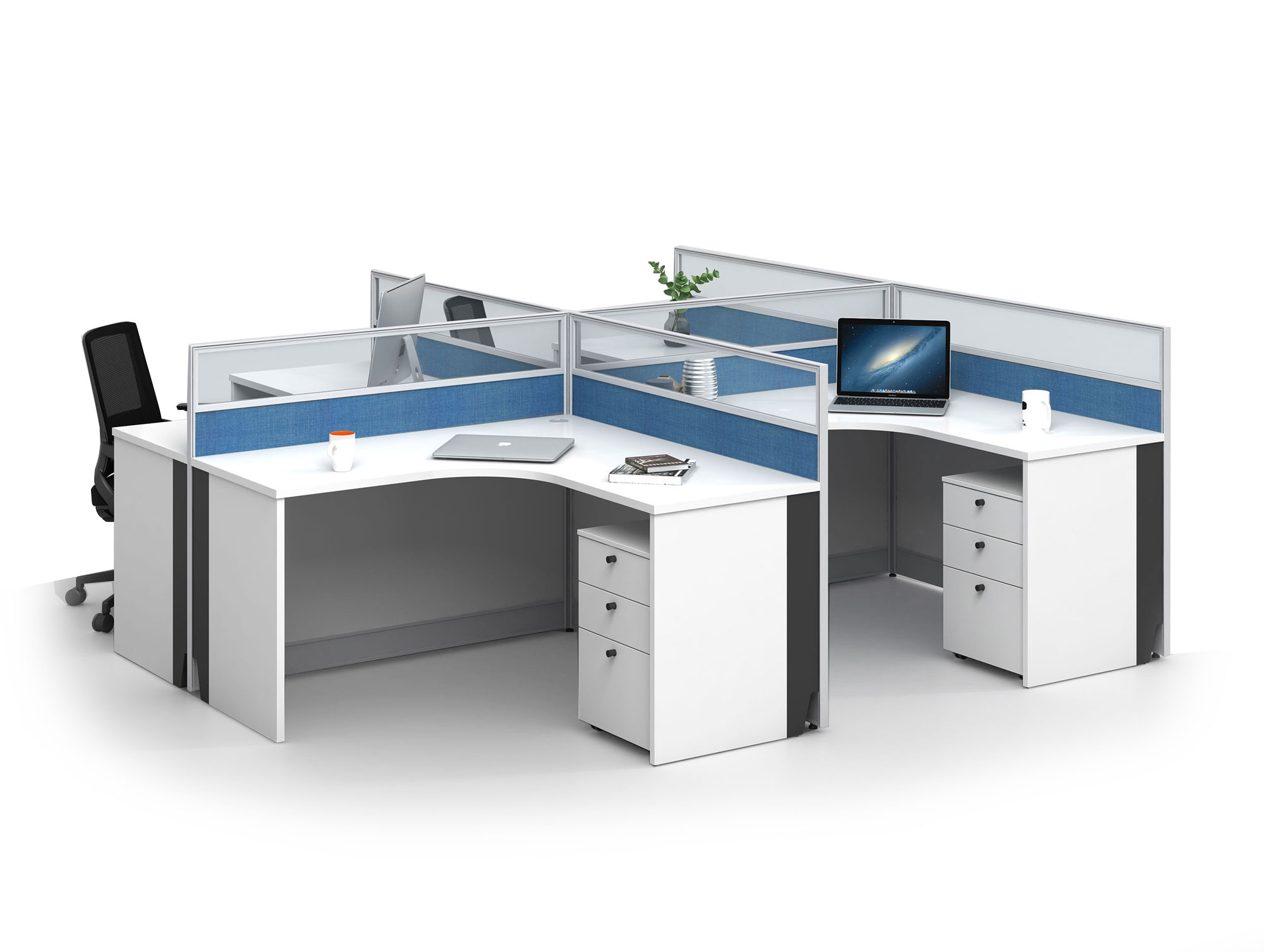 Modern style 4-person workstation Partition  V-WA2828C