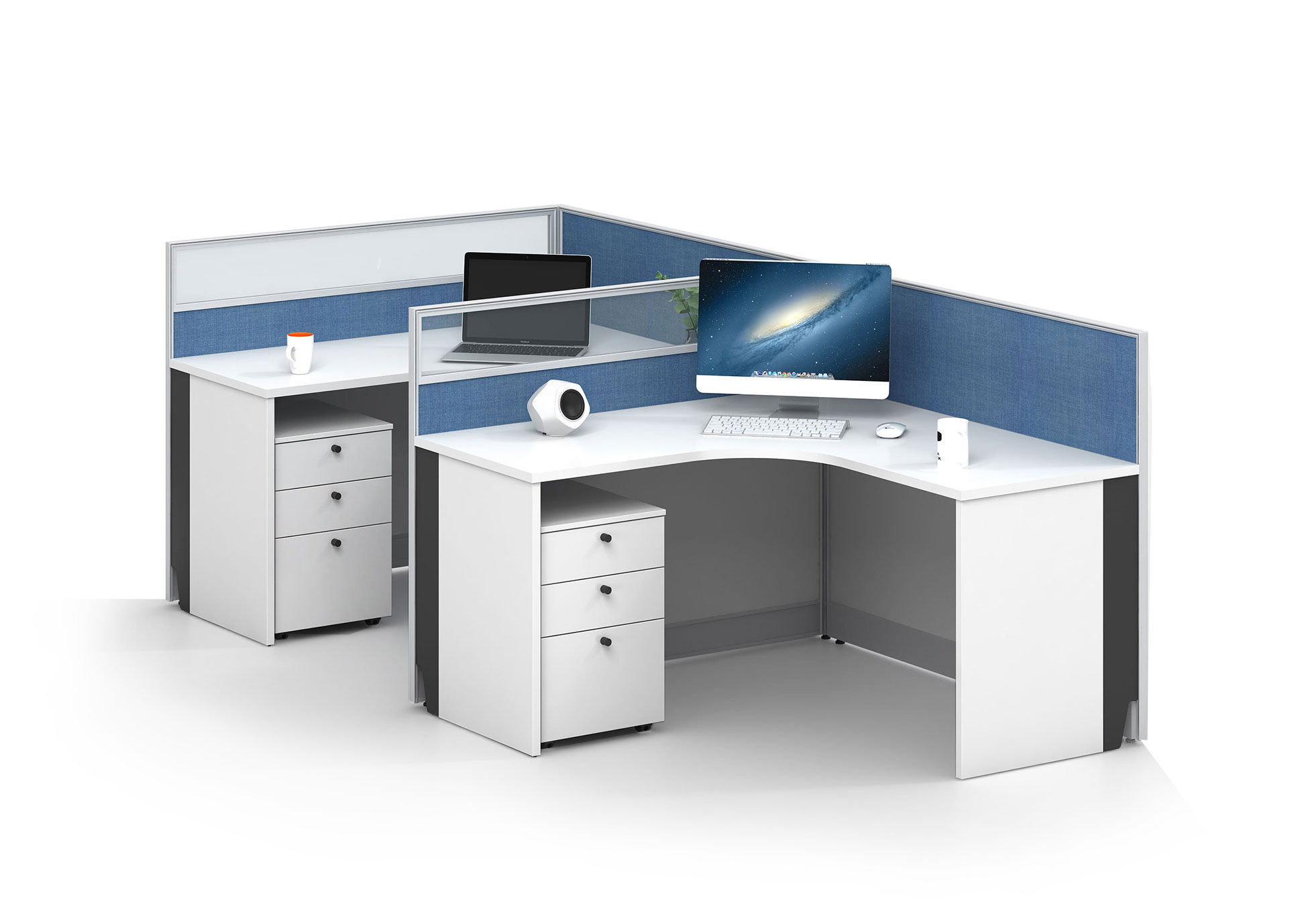 Modern style 2-person workstation Partition V-WB1428A