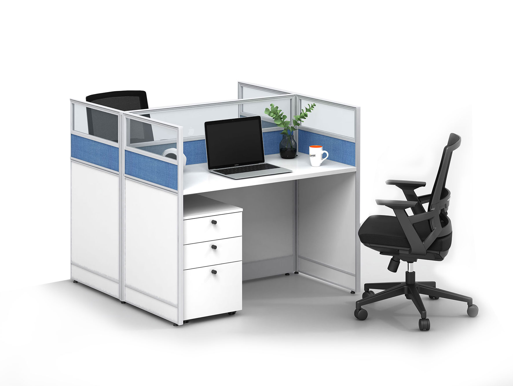 Modern style 2-person workstation Partition  V-WD1212