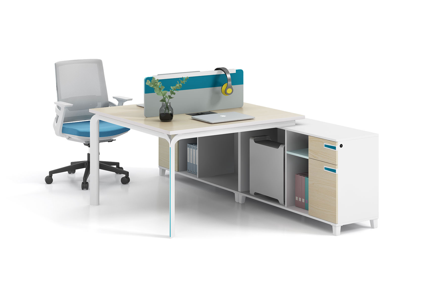 Modern style 2-person workstation  X-WH1424